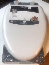 Mayfair 113EC-000 Elongated Cushioned Vinyl Toilet Seat w/Molded Wood Core White