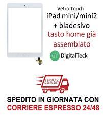 VETRO TOUCH SCREEN IPAD MINI MINI 2 WIFI 3G A1432/1454/1455 A1489/1490 BIANCO