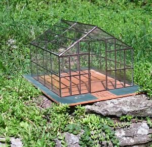 Conservatory Greenhouse Potting Shed Soldered Glass Artisan Dollhouse Miniature