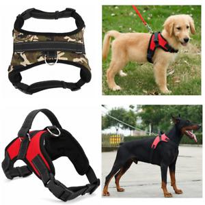 Pet Harness Adjustable Control Vest Dogs Reflective No Pull Dog Stuff Collars