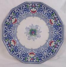 Zamara Blue Transferware Plate Frances Morley Antique Polychrome As Is