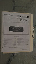 Fisher ph-w803 service manual original repair book stereo boombox radio tape