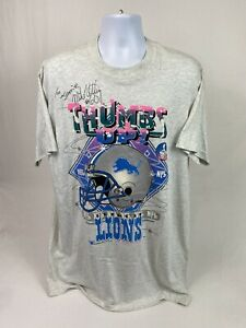 NEW! *Signed* VTG 90's Detroit Lions Mike Utley #60 S/S T-Shirt Size  XLT W/Tag