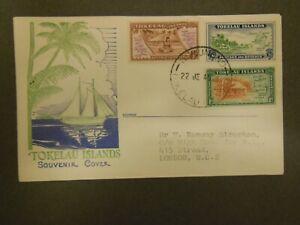 Tokelau 1948 SG1-3 Atafu Village and Map FDC
