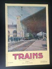 TRES RARE ancienne revue SNCB Trains N° 9 1952 rail Belgique TTBE