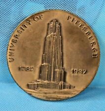 "~1937 University of Pittsburgh Sesquicentennial 3""Pitt Bronze Medallion~"