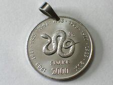 Münz-Anhänger 10 Schillings Ø 25 mm Chinesiches Tierkreiszeichen Schlange