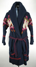 Womens Abercrombie And Fitch Wool Blend Sweater Coat Large Native Pattern