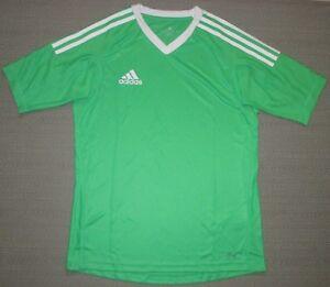 New YOUTH M L ADIDAS REVIGO 17 Goalkeeper SOCCER JERSEY Energy GREEN WHITE GK SS