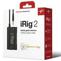 IK Multimedia iRig 2 Guitar iOS Interface iPad,iPhone,iPod Touch
