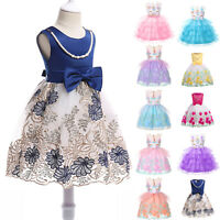 Flower Girls Dress Kids Tutu Pageant Wedding Formal Party Birthday Gown Princess