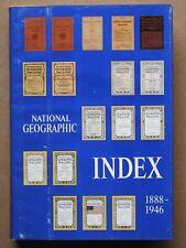 """NATIONAL GEOGRAPHIC INDEX, 1888-1946"", HC"