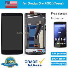 For Oneplus One 1+ A0001 LCD Screen Display + Touch Digitizer + Frame Part Black