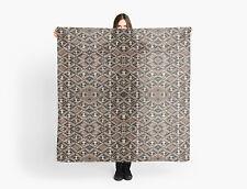 DESIGNER STYLE SCARF w/Exclusive African Art Design ~ Kuba Cloth Pattern Var #2
