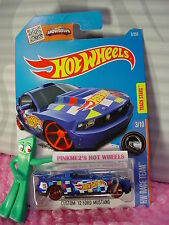 2016 i Hot Wheels CUSTOM '12 FORD MUSTANG #3✰Blue; Red mc5✰RACE TEAM✰2017 Case A