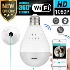 Mini Security IP Camera 360° Panoramic SPY Hidden 1080P Wifi Wireless Light Bulb