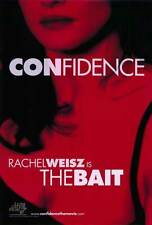 CONFIDENCE Movie POSTER 27x40 B Edward Burns Rachel Weisz Morris Chestnut Leland