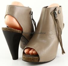 JOIE SHE'S ELECTRIC Elephant Leather Designer Peep Toe Ankle Booties 8 EUR 39