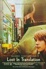 Lost in Translation Movie Poster 27 x 40 Scarlett Johansson, Bill Murray, A