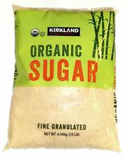10 lbs. USDA Organic Raw Sugar Kosher Fine Granulated Kirkland Signature