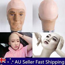 Unisex Thick Bald Skin Head Skull Wig Cap Fancy Dress Costume Cosplay Hat C024
