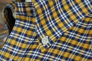 New BROOKS BROTHERS Shirt Multi Color Plaid Button Down Collar Supima Cotton Med