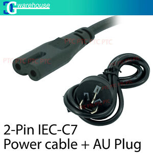 50 x 2 Pin Core Figure 8 IEC-C7 AC Power Cord Cable Lead Plug AU