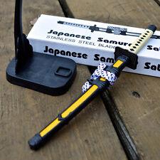 """8"""" Samurai Sword Katana Ninja Desk Letter Opener Paper Knife w/ Scabbard + Stand"""