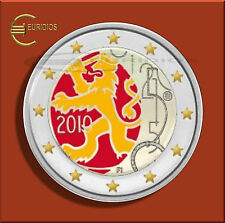 """2 Euro Gedenkmünze Finnland 2010 """" 150 Jahre Währung """", coloriert, Vers. 7"""