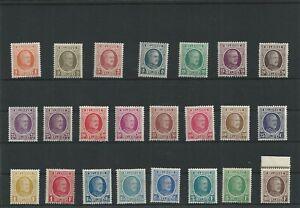 Postage Stamps Belgium 190/210 1922 MNH**