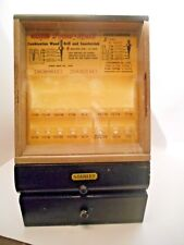 Vintage STANLEY DRILL BITS STORE COUNTER TOP DISPLAY WOOD SHOW CASE CABINET