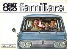 Fiat 850 Familiare German market sales brochure