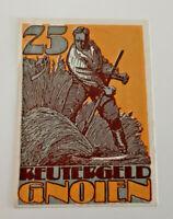 GNOIEN REUTERGELD NOTGELD 25 PFENNIG 1922 NOTGELDSCHEIN (10741)