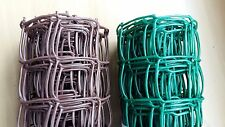 Green Brown Plastic Garden Mesh Wire Ideal for Garden Fencing Fence 10mx1mx50mm