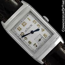 1935 JAEGER-LECOULTRE REVERSO Vintage Stainless Steel Mens Watch - The Original