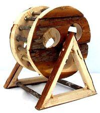 Legno naturale in legno esercizio RUOTA per Criceti Nani, siberiano, i gerbilli, topi