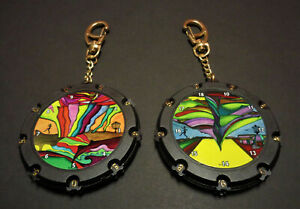-New 2 Disc Golf Score Keepers Bag Tag-Very Unique-