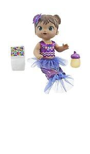 Baby Alive Shimmer n Splash Mermaid Baby Doll, Brown Hair, Ages 3+