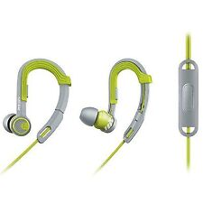 Philips Shq3305ws Sports Earhook Headphones W/ Mic Controller Water Resistant.