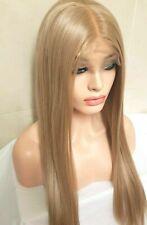 Rose Golden Light Blonde Human Hair Wig Transparent Lace Wig