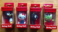 Hello Kitty String Dolls Lot Of 4 Phone Charm Keychain Kerropi Sanrio Chococat!