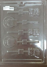 "HALLOWEEN CUTE ""TOMBSTONE R.I.P."" LOLLIPOP CHOCOLATE CANDY MOLD LOP H-41"