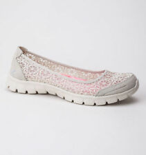 Casual Floral Textile Flats for Women