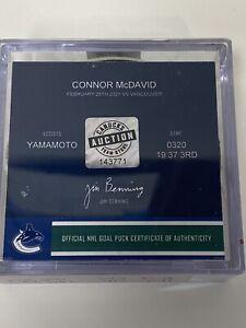 CONNOR McDAVID Game Used Goal EDMONTON OILERS 176 Career Goal ART ROSS HART