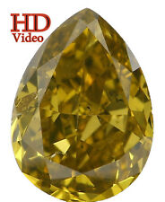 Natural Loose Diamond Pear SI2 Clarity Yellow Greenish Color 0.54 Ct L4893