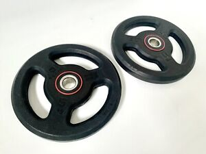 2 x 5kg Domyos Rubber Coated Weight Plates - 28mm Hole