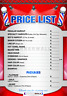 Barber shop Price List by BARBERWALL®, Barber poster, 24 x 36 inches, Laminated