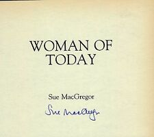 SUE MACGREGOR - Signed Autobiography/Book Page - THE TODAY PROGRAMME