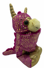 Wild Republic Huggers Golden Dragon Pink Plush Toy Slap Bracelet Stuffed Animal
