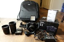 Panasonic Lumix G85 W/ 3 Lenses: 25mm, 12-60, and 45-150. Includes Camera Bag.